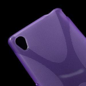 Fialový gelový obal na Sony Xperia M4 Aqua - 2
