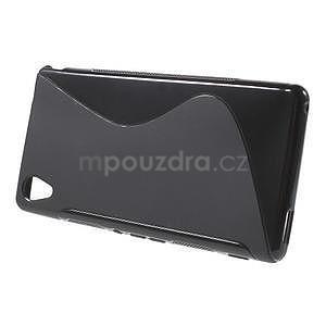Černý s-line pružný obal na Sony Xperia M4 Aqua - 2