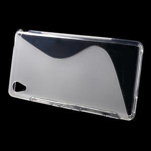 transparentné s-line pružný obal pre Sony Xperia M4 Aqua - 2