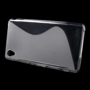 Šedý s-line pružný obal na Sony Xperia M4 Aqua - 2
