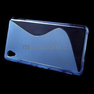 Modrý s-line pružný obal pre Sony Xperia M4 Aqua - 2