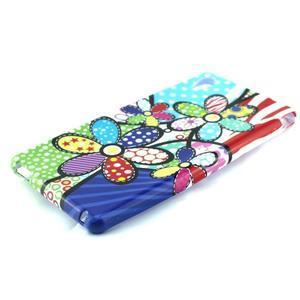 Gélový kryt pre Sony Xperia M4 Aqua - abstraktní kvetiny - 2