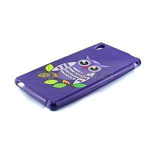 Gelový kryt na Sony Xperia M4 Aqua - fialová sova - 2