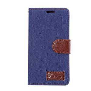 Jeans Peňaženkové puzdro Sony Xperia Z5 - tmavomodré - 2