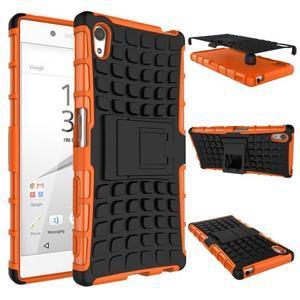 Outdoor odolný obal na Sony Xperia Z5 - oranžový - 2