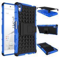 Outdoor odolný obal pre Sony Xperia Z5 - modrý - 2/2