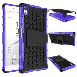 Outdoor odolný obal pre Sony Xperia Z5 - fialový - 2
