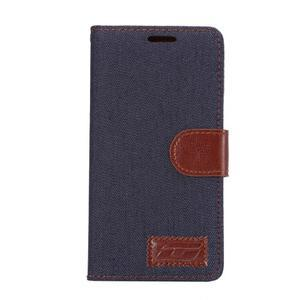 Jeans peněženkové pouzdro Sony Xperia Z5 - černomodré - 2