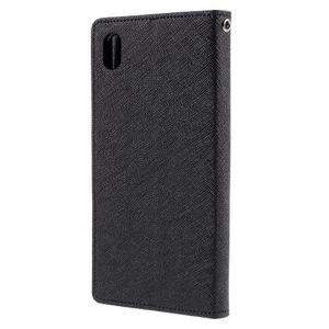 Mercur peněženkové pouzdro na Sony Xperia Z5 - černé - 2
