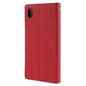 Mercur peněženkové pouzdro na Sony Xperia Z5 - červené - 2