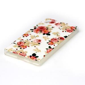 Softy gélový obal pre mobil Sony Xperia Z5 - kvetiny - 2