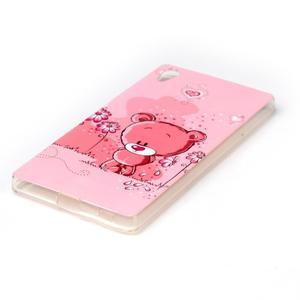 Softy gélový obal pre mobil Sony Xperia Z5 - medvedík - 2