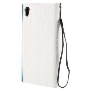 Štýlové Peňaženkové puzdro Sony Xperia Z5 - modré - 2