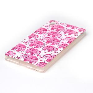 Softy gélový obal pre mobil Sony Xperia Z5 - ružoví - 2