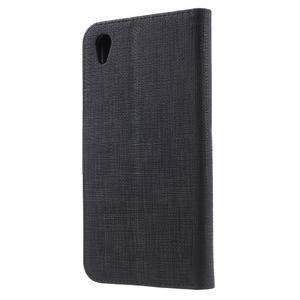 Grid PU kožené pouzdro na Sony Xperia Z5 - černé - 2