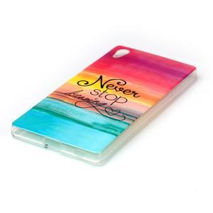 Softy gélový obal pre mobil Sony Xperia Z5 - neprestávaj snívať - 2