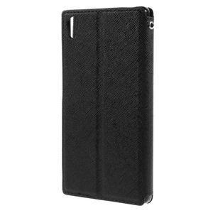 Diary puzdro s okienkom na Sony Xperia Z5 - čierne - 2