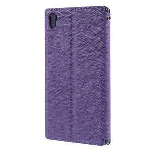 Diary puzdro s okienkom na Sony Xperia Z5 - fialové - 2