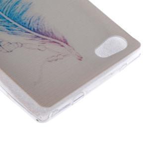 Gelový obal na mobil Sony Xperia Z5 - peříčko - 2