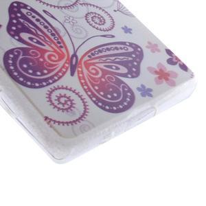 Gélový obal pre mobil Sony Xperia Z5 - kvetiny a motýľ - 2