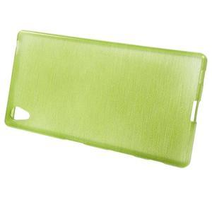 Brush lesklý gélový obal pre Sony Xperia Z5 - zelený - 2