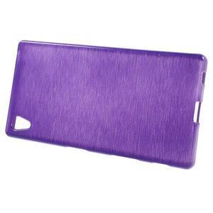 Brush lesklý gelový obal na Sony Xperia Z5 - fialový - 2