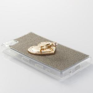 Love gelový obal s náprstkem na Sony Xperia Z5 Compact - šedý - 2