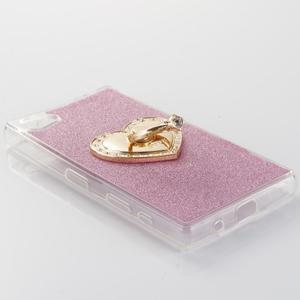 Love gélový obal s náprstkom na Sony Xperia Z5 Compact - ružový - 2