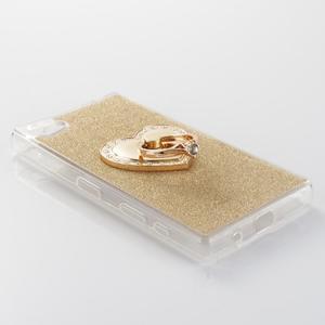 Love gelový obal s náprstkem na Sony Xperia Z5 Compact - zlatý - 2