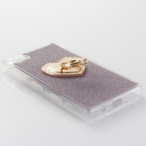 Love gélový obal s náprstkom na Sony Xperia Z5 Compact - fialový - 2
