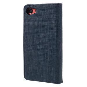 Grid Peňaženkové puzdro pre mobil Sony Xperia Z5 Compact - tmavomodré - 2