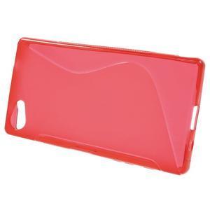 S-line gélový obal pre Sony Xperia Z5 Compact - červený - 2