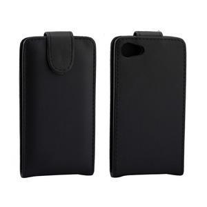 Flipové puzdro pre Sony Xperia Z5 Compact - čierne - 2