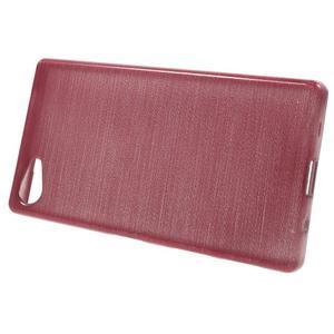 Brush gélový obal pre Sony Xperia Z5 Compact - ružový - 2