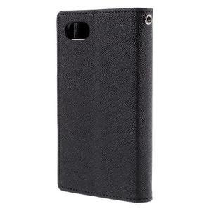 Fancy PU kožené puzdro pre Sony Xperia Z5 Compact - čierne - 2