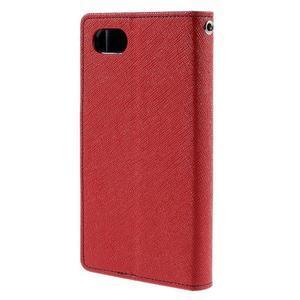 Fancy PU kožené puzdro pre Sony Xperia Z5 Compact - červené - 2