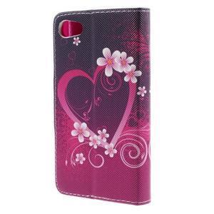 Diary Peňaženkové puzdro pre Sony Xperia Z5 Compact - srdce - 2