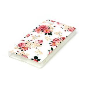 Sally gélový obal pre Sony Xperia Z5 Compact - kvetiny - 2