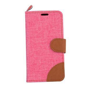 Cloth Peňaženkové puzdro pre mobil Sony Xperia Z5 Compact - ružové - 2