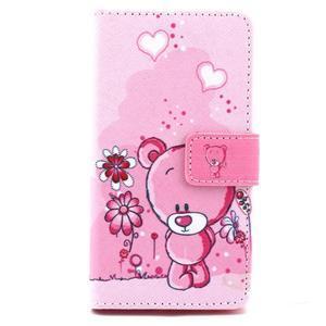 Peňaženkové puzdro pre mobil Sony Xperia Z5 Compact - medvedík - 2