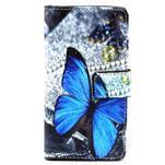 Peněženkové pouzdro na mobil Sony Xperia Z5 Compact - modý motýl - 2/7