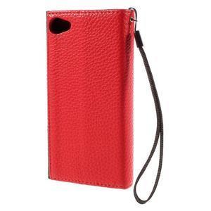 Stylové peněženkové pouzdro na Sony Xperia Z5 Compact - červené - 2