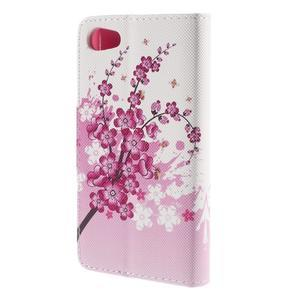 Diary peněženkové pouzdro na Sony Xperia Z5 Compact - květoucí větvička - 2