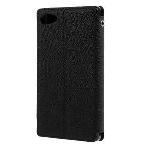 Puzdro s okienkom na Sony Xperia Z5 Compact - čierne - 2