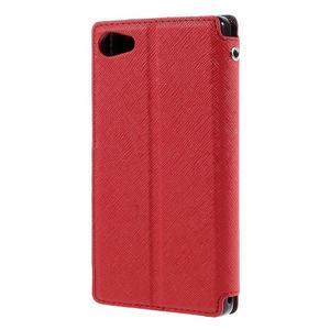 Puzdro s okienkom na Sony Xperia Z5 Compact - červené - 2