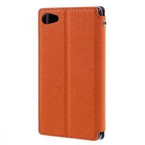 Puzdro s okienkom na Sony Xperia Z5 Compact - oranžové - 2