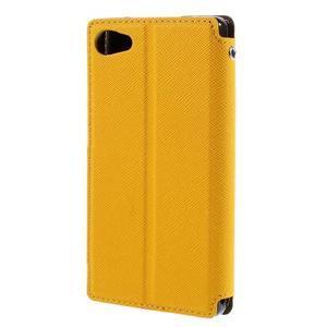 Puzdro s okienkom na Sony Xperia Z5 Compact - žlté - 2