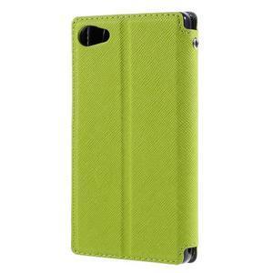 Puzdro s okienkom na Sony Xperia Z5 Compact - zelené - 2