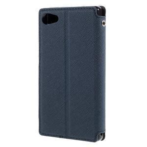 Puzdro s okýnkem na Sony Xperia Z5 Compact - tmavěmodré - 2