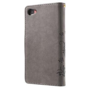 Butterfly Peňaženkové puzdro pre Sony Xperia Z5 Compact - sivé - 2